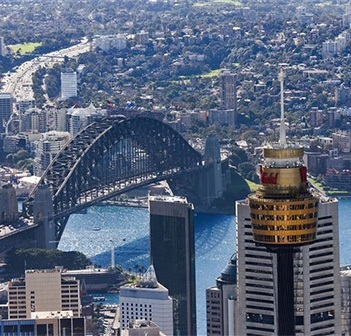 See Vivid from Sydney Tower