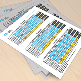 New timetables for 2020!